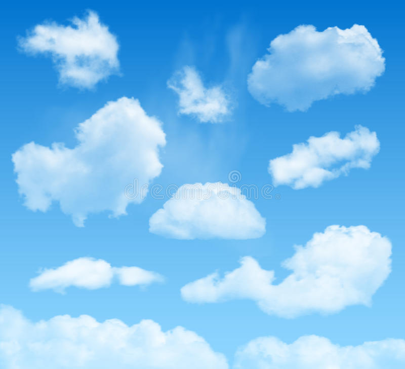 Clouds on blue skies background vector illustration