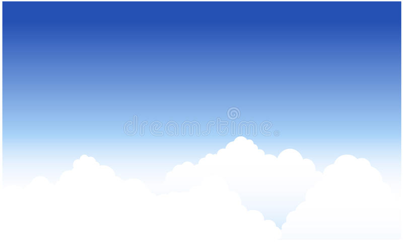 Clouds and blue sky royalty free illustration