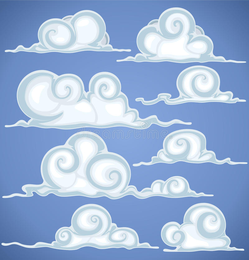 Download Clouds in blue sky stock vector. Image of illustration - 24886639