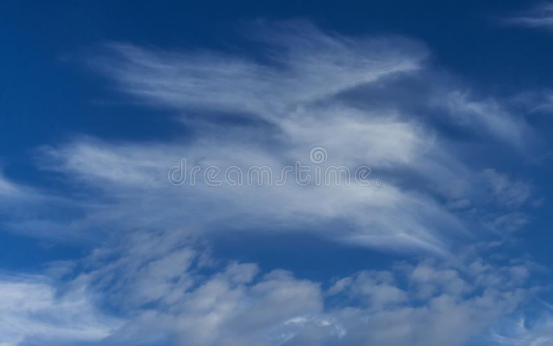 Clouds and Blue Sky Background. Design Pattern and Textures.  stock photo