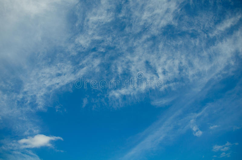 Clouds in the blue sky, Blue sky on good weather day.  stock image