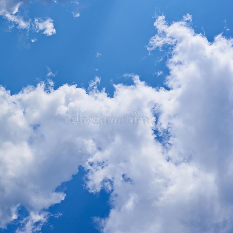 Clouds on the blue sky. Composition stock photos