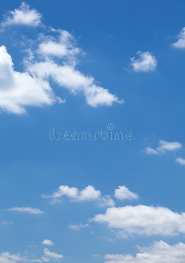 Clouds In The Blue Sky Royalty Free Stock Image