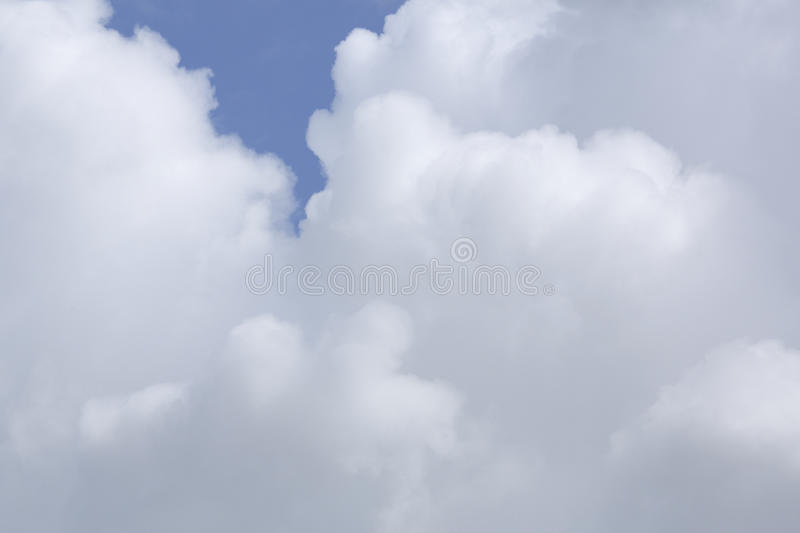 Clouds and a blue sky, The Netherlands stock photography