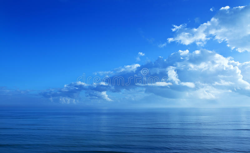Clouds Blue Sky Ocean Background stock image