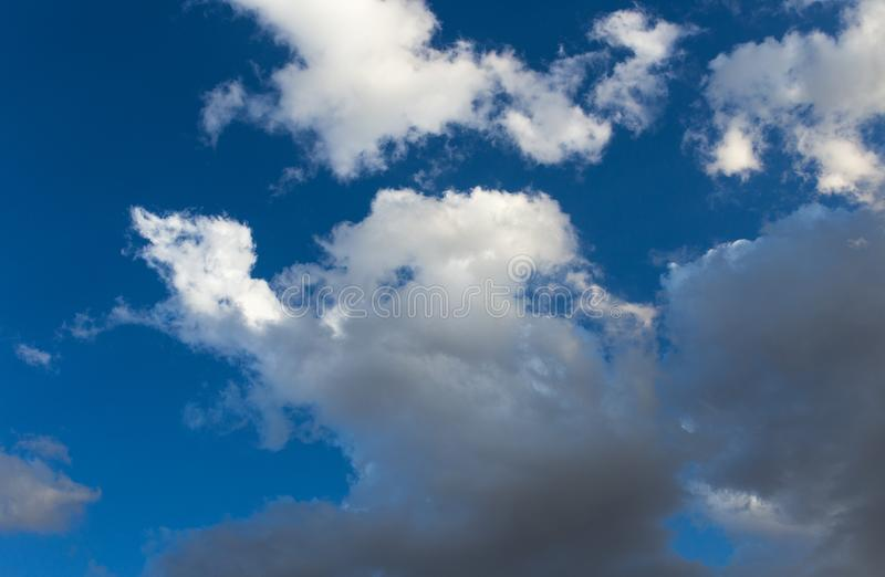 Clouds in the blue sky stock image