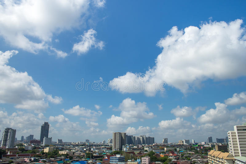 The Clouds on Blue Sky royalty free stock photography