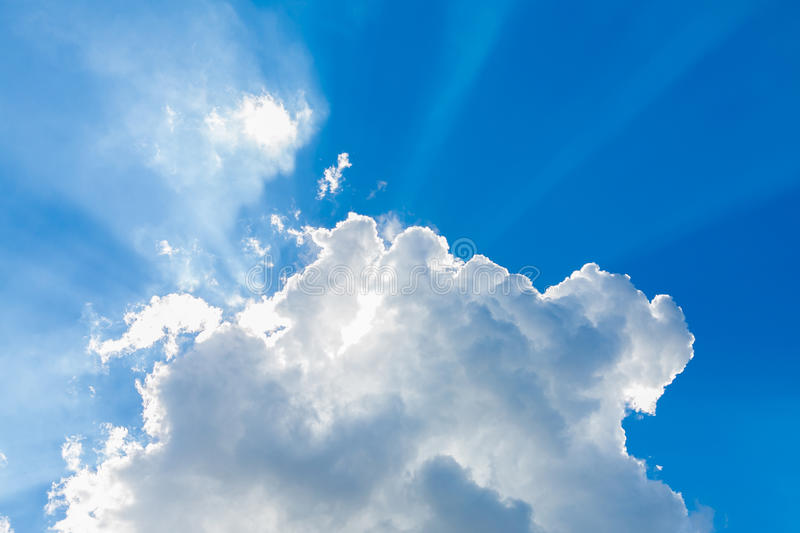 Clouds in the blue sky royalty free stock photos