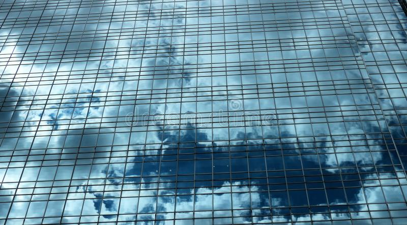 Clouds in building stock photo