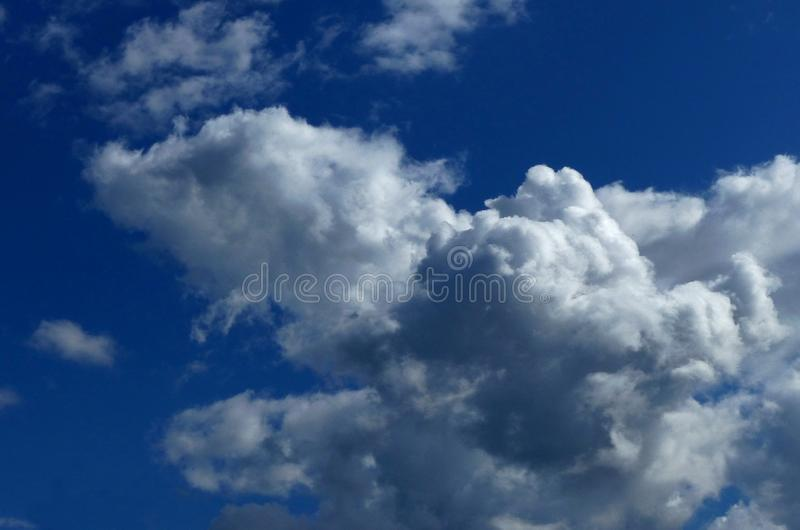 Clouds in the cloud sky. White clouds in the cloud sky royalty free stock photo