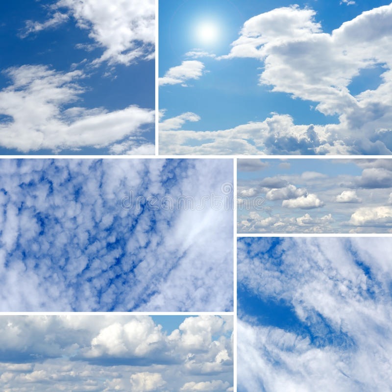 Clouds Collage Royalty Free Stock Images
