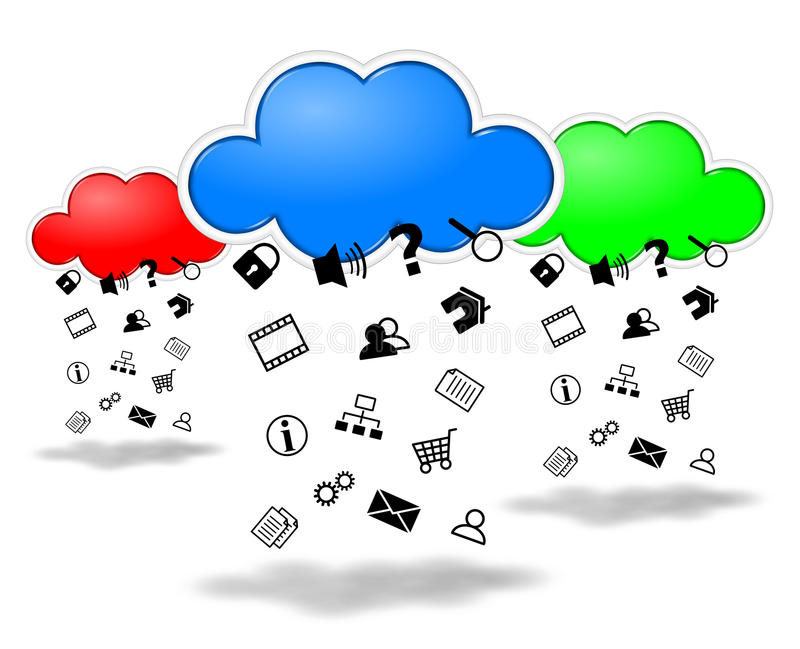 Clouds computing competition concept illustration vector illustration