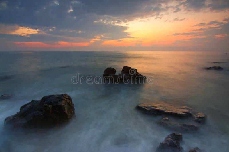 Clouds, Dawn, Nature, Ocean, royalty free stock photos