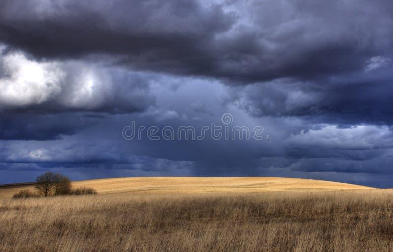 clouds den mörka dramatiska stormen royaltyfria bilder