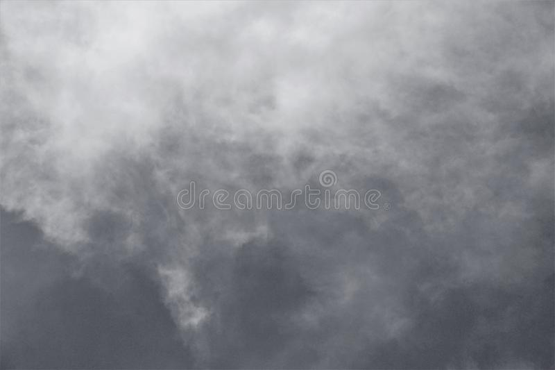 Clouds descending from on high royalty free stock photos