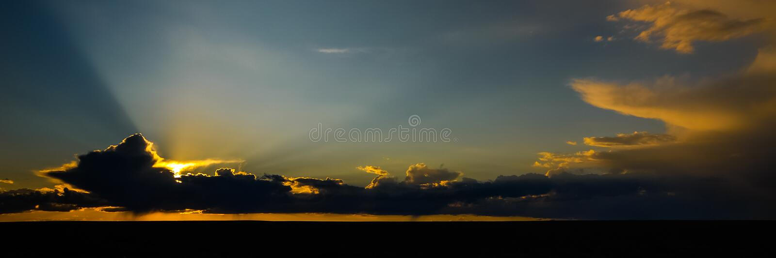 Clouds in the desert of Mongolia. Colorful dramatic Clouds in the desert of Mongolia stock photos