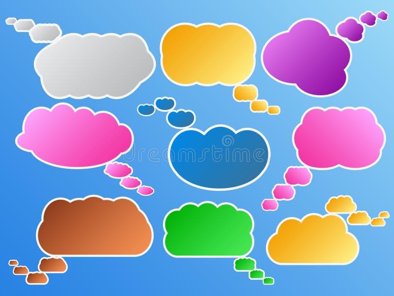 clouds dialog royaltyfri illustrationer
