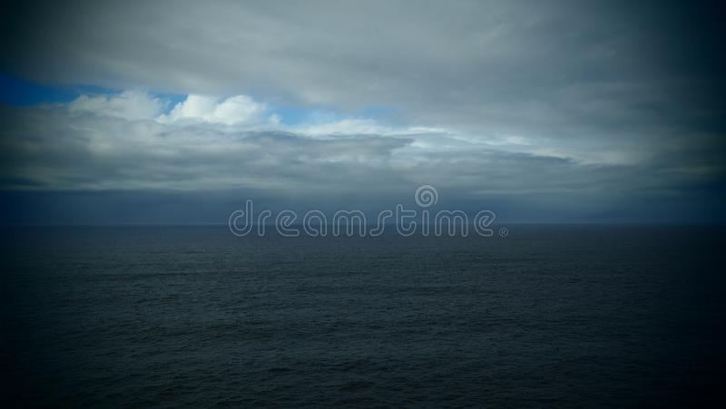 Clouds in a dramatic sky near Sagres, Portugal stock photos