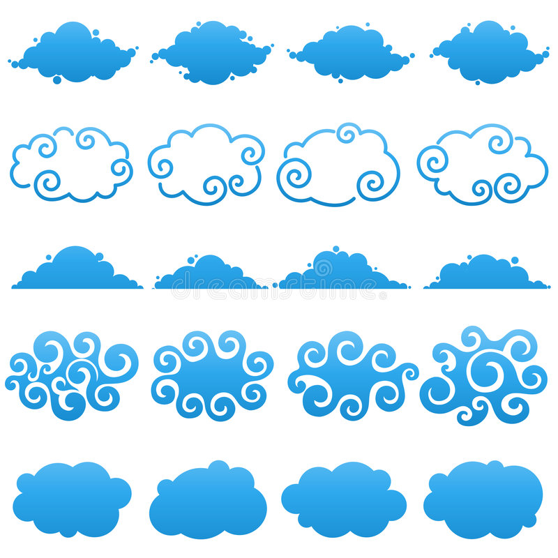Clouds. Elements for design. vector illustration