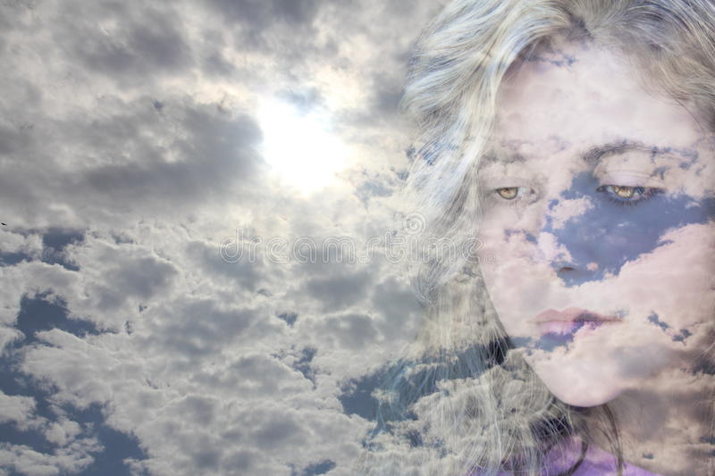 Clouds face royalty free stock images