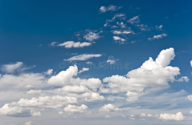 Download Clouds and flying airplane stock image. Image of weather - 11167571