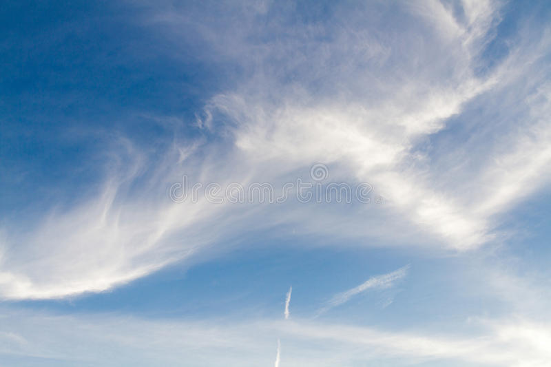 Clouds Form Phenomena. Abstract Clouds Form In The Air Of Natural Phenomena royalty free stock image