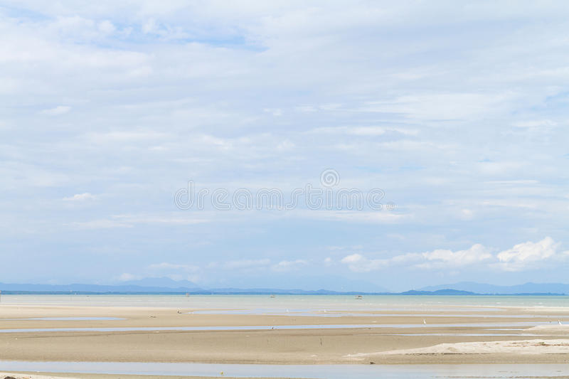 Clouds Form Phenomena. Abstract Clouds Form In The Air Of Natural Phenomena Over The Seashore stock photo