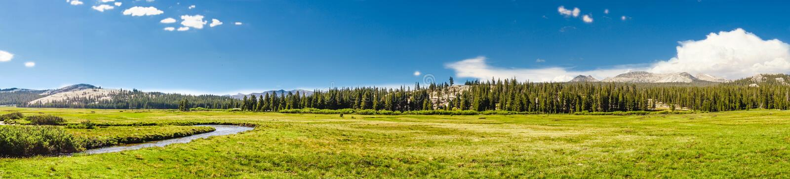 Clouds forming in Yosemite Park stock images