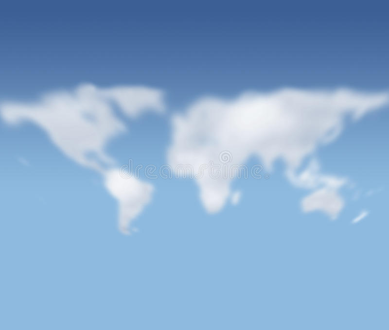 Download Clouds Forming World Map Figure Stock Illustration - Image: 11191428