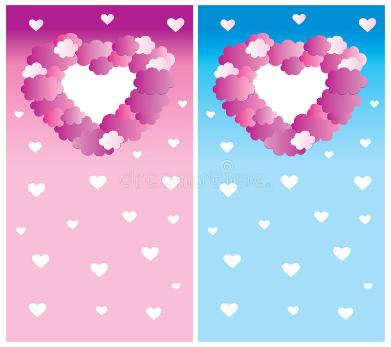 Download Clouds and Hearts stock vector. Illustration of childhood - 12187726