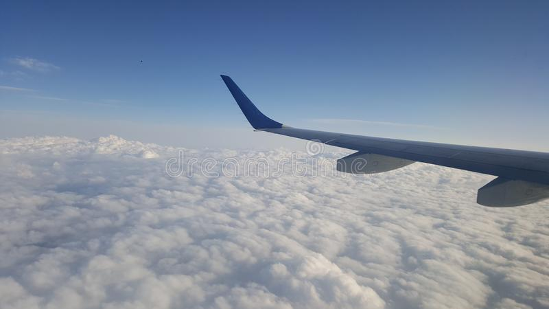 Clouds high stock photo