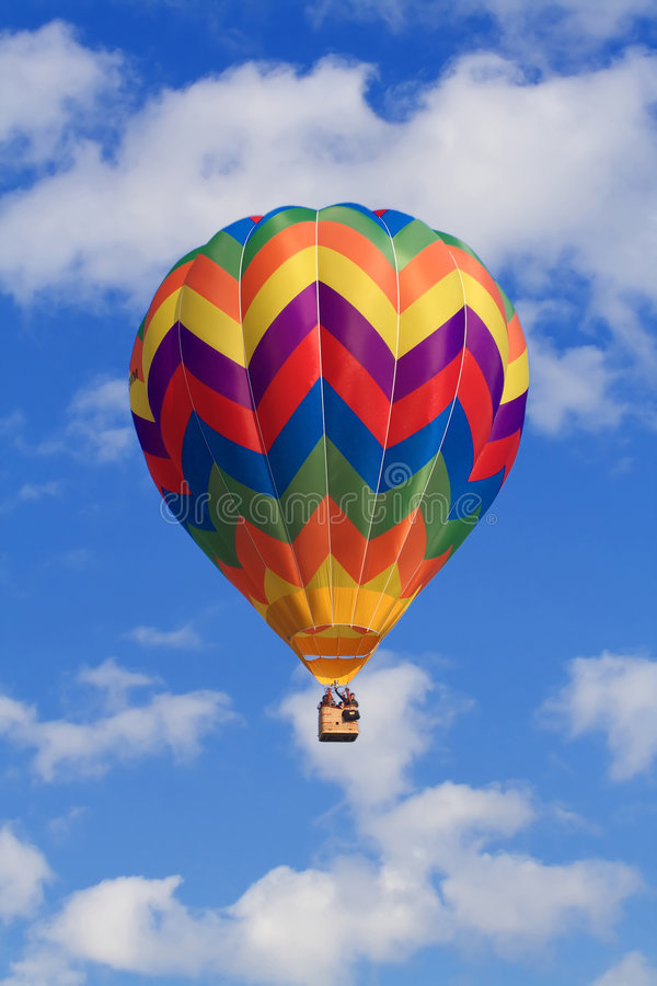 Clouds and hot air balloon royalty free stock images