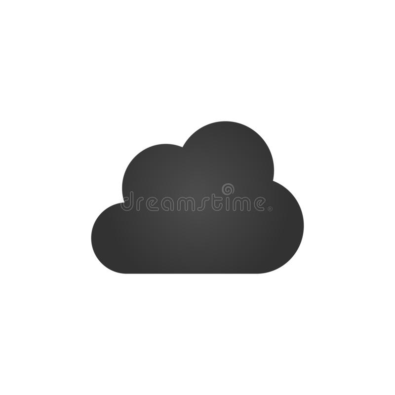 Clouds Icons. Black Flat Design. Vector Illustration. Isolated stock illustration
