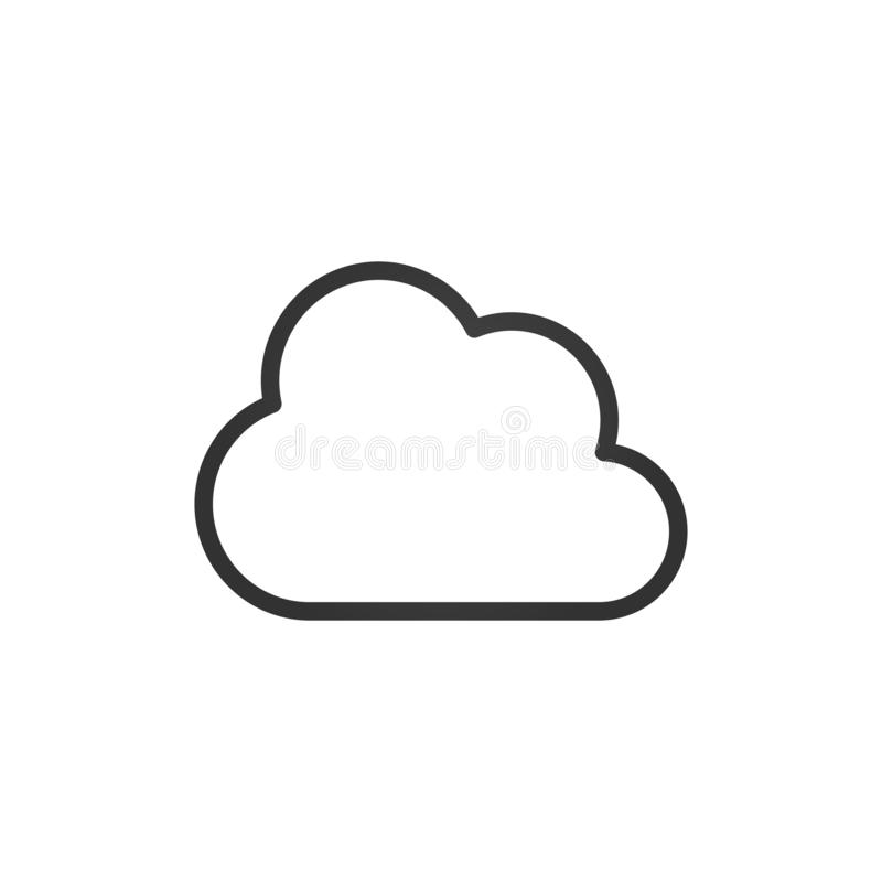 Clouds Icons. Black linear Design. Vector Illustration. Isolated stock illustration