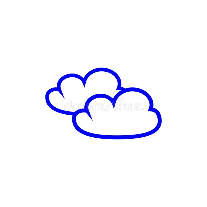 Cloud of icons stock illustration