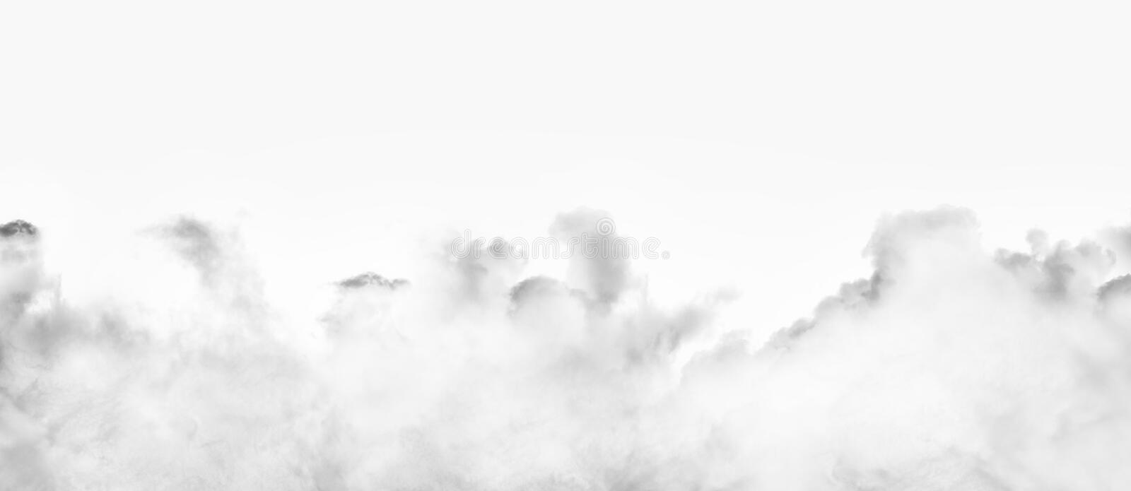 Clouds isolated on white background stock image