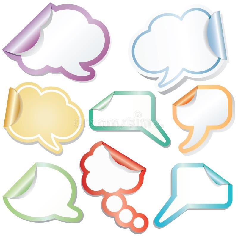 clouds klibbigt anförande stock illustrationer