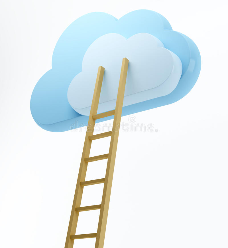 Download Clouds and ladder stock illustration. Illustration of email - 26493765