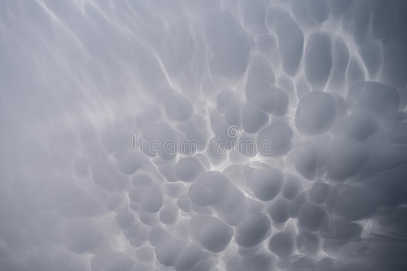 clouds mammatus royaltyfri bild
