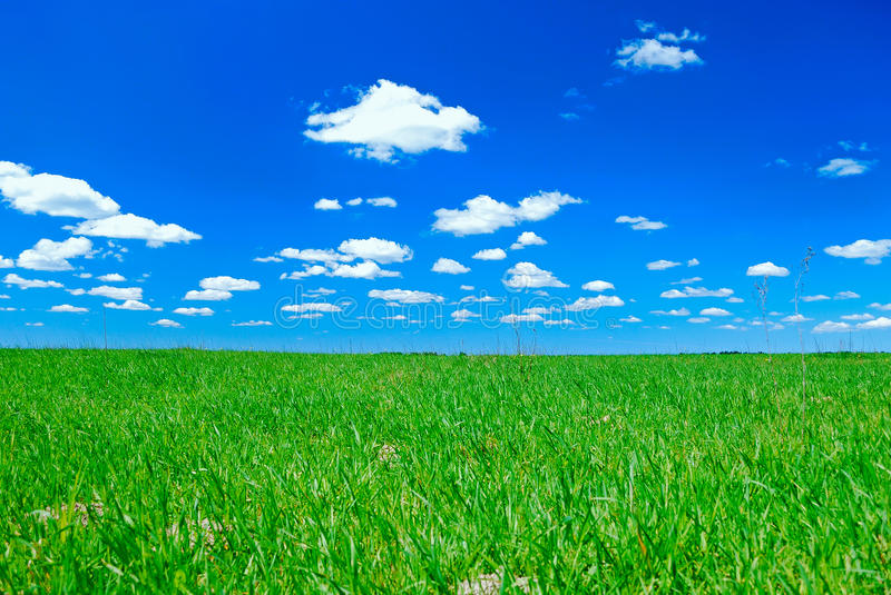 Download Clouds And Meadow Stock Image - Image: 9643461