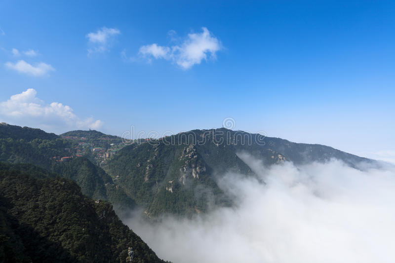 Clouds and mist in lushan royalty free stock image