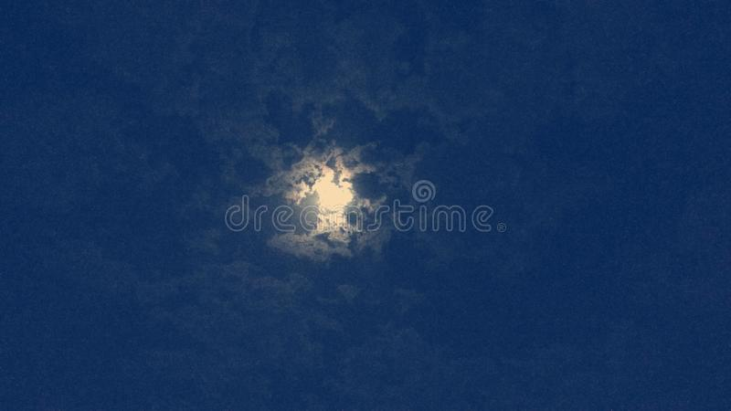 Clouds in Moonlight royalty free stock photos