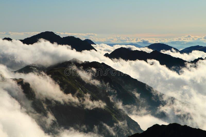 Clouds in mountain,Fagaras , Romania royalty free stock image
