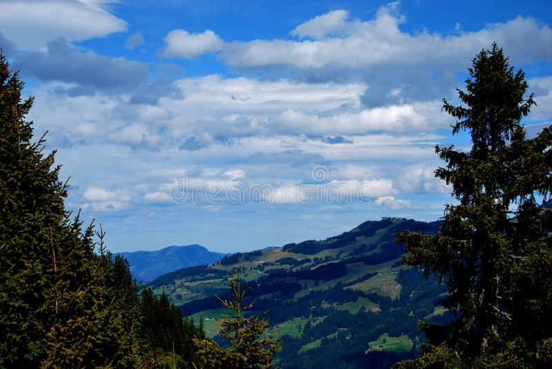 Clouds in the mountains royalty free stock photos