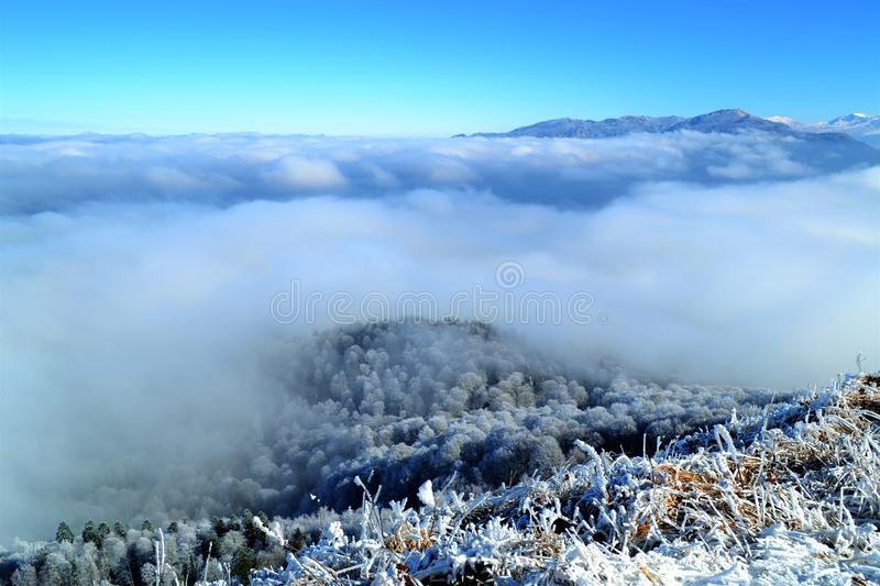 Clouds in the Mountains royalty free stock photo