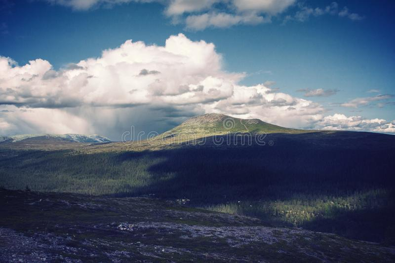 Clouds Near Mountain during Daytome royalty free stock image