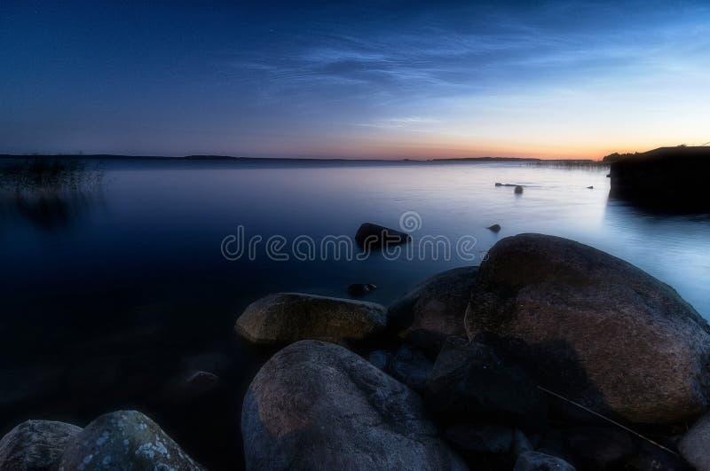 clouds noctilucent arkivbilder