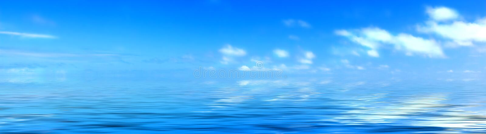 Clouds and ocean stock photography