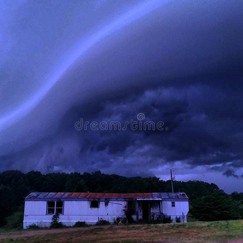 Clouds over Abandoned Home stock image