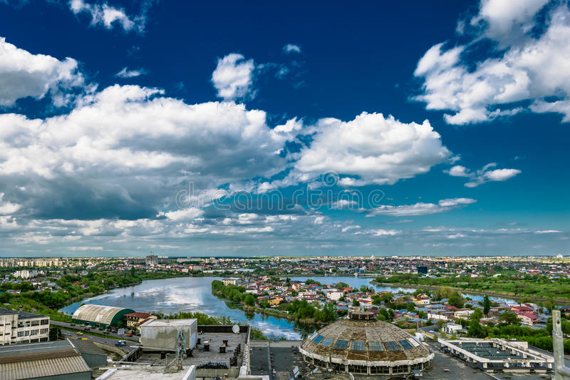 Clouds over Bucharest stock photo